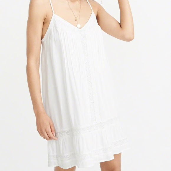 caf616d098eb Abercrombie & Fitch Dresses | Abercrombie Lace Pieced Swing Dress ...